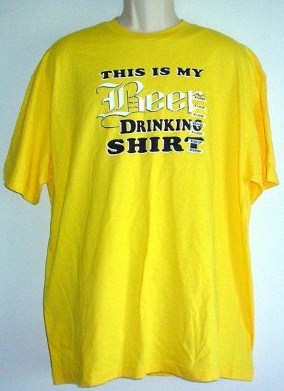 Beer drinking shirt X Large