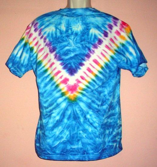 Tie Dye tee shirt  retro hippie style Medium size cotton Delta tee