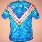 Tie Dye tee shirt  retro hippie style Medium size cotton Delta tee