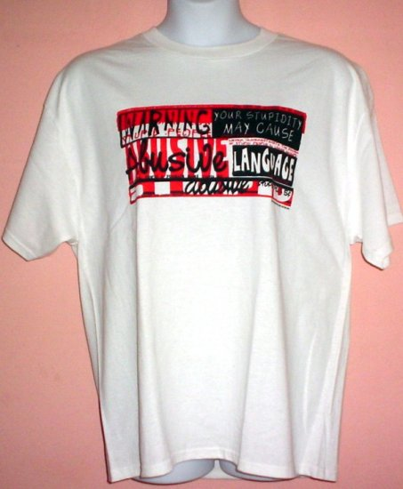 New tee shirt WARNING YOUR STUPIDITY COULD CAUSE ABUSIVE LANGUAGE cotton Delta Pro Weight tee XL