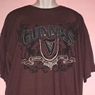 NEW beer tee shirt Guinness brown with sewed patch. Cotton. 3XL NWT
