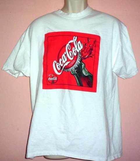 Coca Cola Classic tee shirt Cotton Port and Company tee Size Large L