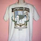 Mule Deer Beer tee shirt Montana MORE BUCK FOR YOUR BEER Size Large L