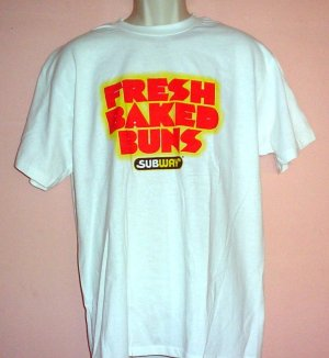 Tee shirt. Subway FRESH BAKED BUNS Counter person tee shirt. Size Large L