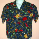 Womans shirt Rayon. Dark blue with purse contents motif. Pendleton Sopisticates Size 10