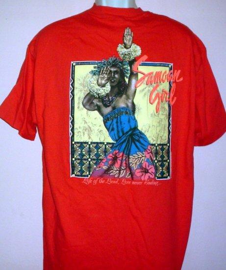 New Samoan Strength tee shirt Samoan girl Life of the Land. Love Never Ending.NWT Size X Large XL