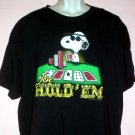 Snoopy poker tee shirt JOE HOLD'EM Official Peanuts tag Sixe 3XL
