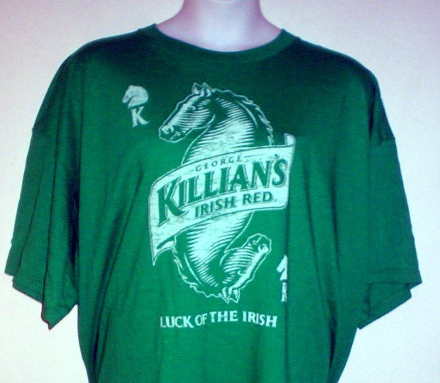 Beer tee shirt George Killian's Irish Red Luck of the Irish Size 4XL