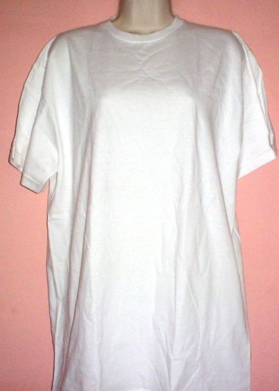 New White cotton tee shirt crew neck Size Extra Large XL Authentics label NWT