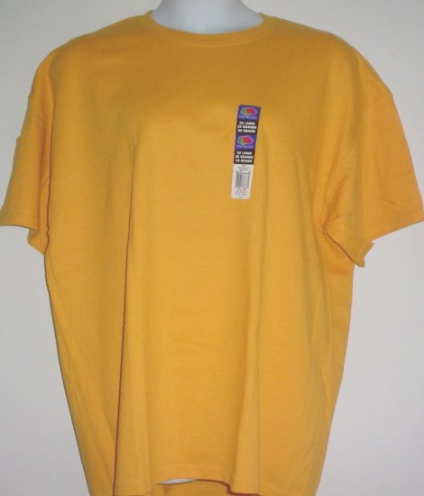 Fruit of the Loom tee shirt Tagless, orange cotton Size 2XL