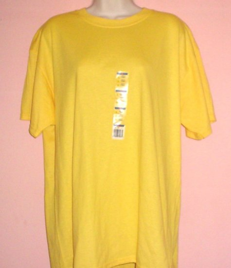 Jerzees tee shirt Wrinkle Resistant Cotton polyester  Yellow Size Large L