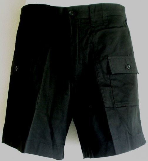 NEW Black cotton walking hiking jogging  shorts NWT Size 32 inch waist.