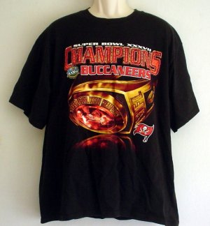 Sports tee shirt Tampa Bay Buccaneers Champions football Super Bowl XXXVII Size XL