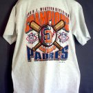 NEW San Diego Padres tee shirt 1996 National League Western Division Champions XLvintage NOS