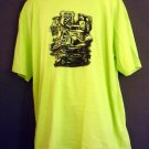 NEW Route 66 tee shirt Heavy duty cotton chartreuse. XXL