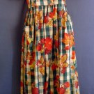 Full length Prarie Dress cotton Autumn leaves. Dogwood Lane label. Size small S