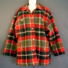 Womans wool sport jacket fully lined tartan plaid. Jones New York.  Size medium M