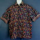 Oriental floral sport shirt NEW. Cotton 17/17.5 collar  Extra large XL