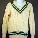 Wool sweater. NEW Cable knit, vee neck. Hall Brothers Ltd, Oxford, England. Extra large XL