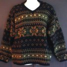 Wool sweater Nordic style V neck. Fogcutter label extra large XL