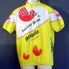 Bicycle shirt Scott self wicking polyester. Half zipper Yellow Size XL