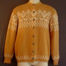 Vintage wool cardigan sweater 1950s Barron Woolen mills Brigham Young Size small S