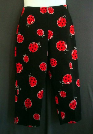 NEW Ladybug slacks, pants. Briggs made in USA. Cotton Size 12