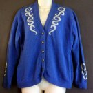 Girls vintage pendleton wool cardigan sweater Blue Girls large