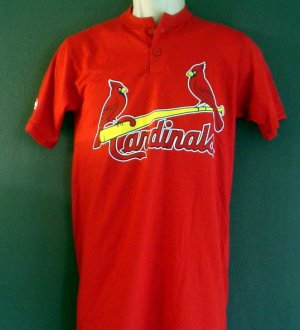 NEW baseball shirt St Louis Cardinals. Number 17 on back. Two birds on a bat logo. Small