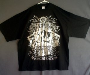 Tee shirt made in USA. Black. Hustla Homie tee shirt 4XL -  5XL