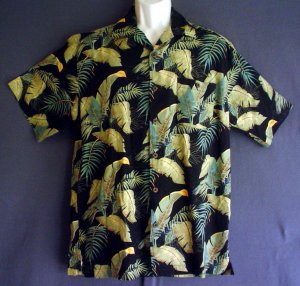 Rayon cotton Hawaiian sports shirt Washable. Joe Marlin Large