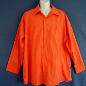 New Red Cap shirt cotton poly wrinkle free orange 3XL