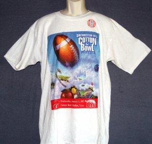 New vintage football tee shirt Cottonbowl classic dallas TX BYU 1997
