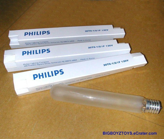 Lot of 3~24T6 1/2/IF (Equiv. 25T6 1/2/IF) Frosted Showcase-Exit-Appliance light bulb 5.5''