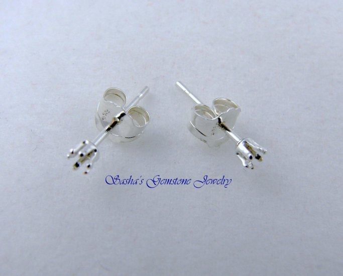 2 MM ROUND STERLING SILVER SNAPTITE EARRINGS