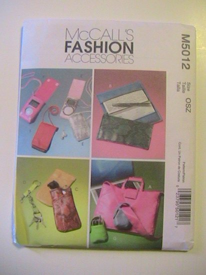 McCalls Fashion Accessories Sewing Pattern, Tote and Purse