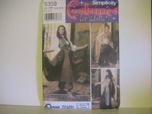 Simplicity Costume Pattern for Adults, #5359,Size HH,Misses, a Gypsy, Belly Dancer, Harem Girl,
