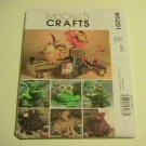 McCalls Crafts Sewing Pattern,  #M5291,Animal Sewing Caddies