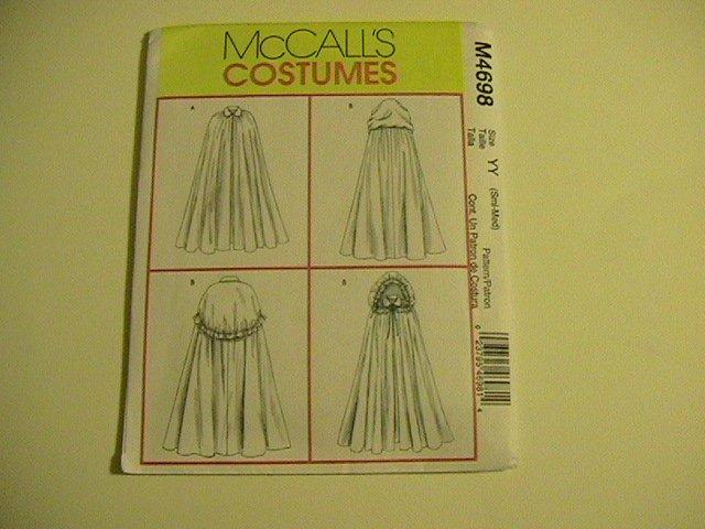 McCalls Costumes M4698, Pattern Misses Cape,small,medium