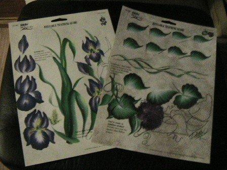 FolkArt One Stroke Teaching Guide,set 0f 2,Irises,Wisteria