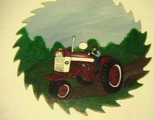 International 304 Tractor handpainted 10 inch Circular Sawblade