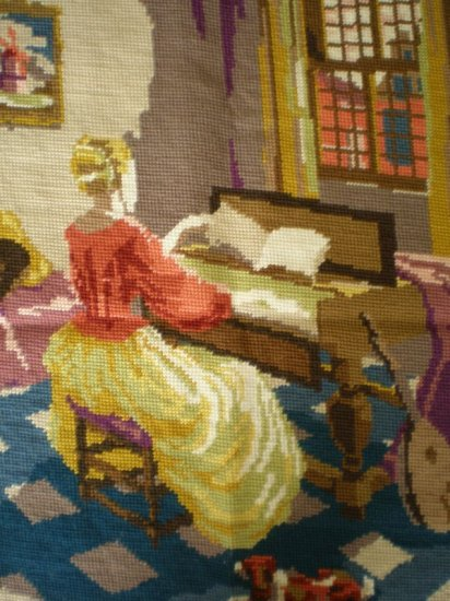 The Music Room Complete Tapestry/Needlepoint Fabric Art