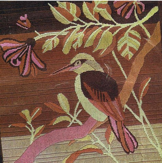 Pink Hummingbird Needlepoint/Tapestry/Longstitch Embroidery Canvas