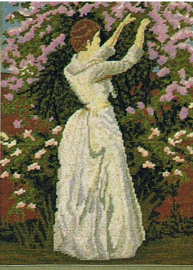Twilleys' Victorian Lady Picking Flowers Needlepoint/TapestryKit