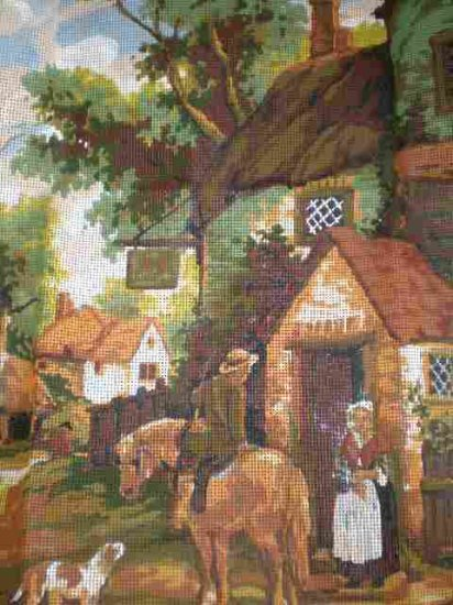 Twilley's Victorian Constable in the Village Tapestry / Needlepoint Kit