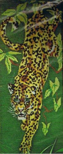 Spinnerin Needlepoint Stitchery kit Jungle Leopard by Diana Charles