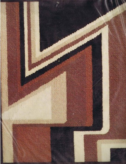 Spinnerin Geometric 7 Modern Needlepoint/Tapestry/Stitchery Kit