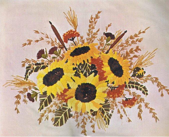 Bucilla Florabunda Sunflowers Crewel Kit