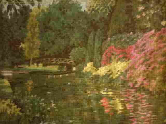 Tatton Park - Monet-like park scene Needlepoint/Cross stitch/Tapestry Kit