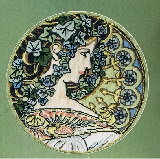 "DMC Mucha's ""Ivy: complete Long Stitch Embroidery Kit"